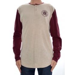 T-Shirt Altamont Zero Six Henley - Burgundy