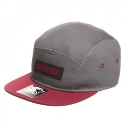 Boné Starter Label 5 panel - Charcoal/Burgundy