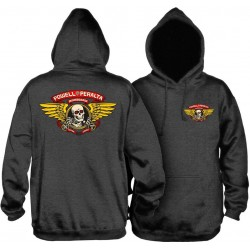 Sweat Hood Powell Peralta Winged Ripper - Charcoal Heather