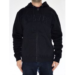 Sweat Hood Zip Creature Logo - Black