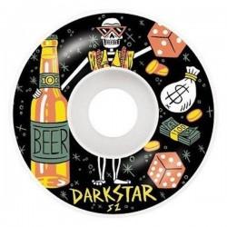 Rodas Darkstar Vices Black - 52mm