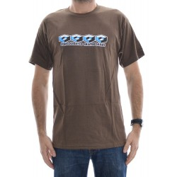 T-Shirt Consolidated 4 Cubes - Brown