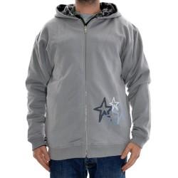Sweat Hood Zip Fourstar Polk - Grey