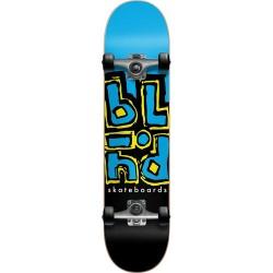 "Skate Completo Blind Jumbled Split Youth Cyan/Black (Soft Wheels) - 7.375"""" (Mid)"