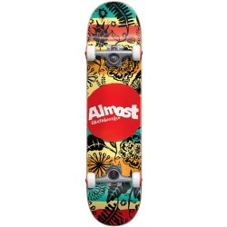 "Skate Completo Almost Primal Print Youth Multi - 7.0"""" (Mini)"