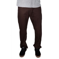 Calças Enjoi 5 pocket Denim Regular Fit - Dark Brown