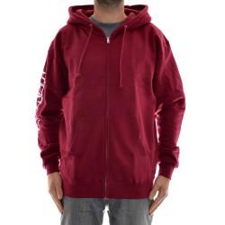 Sweat Hood Zip Baker Slope - Burgundy