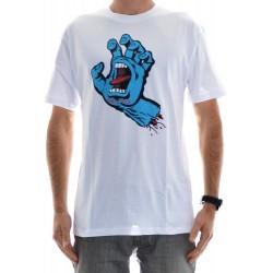 T-Shirt Santa Cruz Screaming Hand - White
