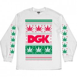 Longsleeve DGK Ugly Sweater - White