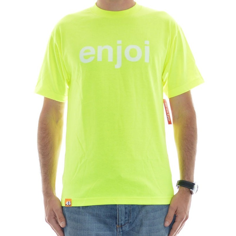T-Shirt Enjoi Helvetica Logo - Safety Green