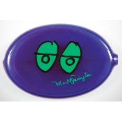 Krooked Purple Green Coin Pouch
