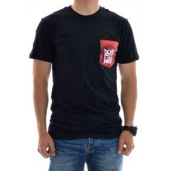 T-Shirt Deathwish Dye Pocket - Black