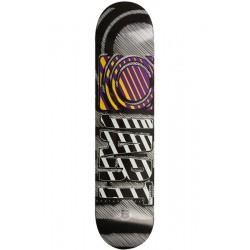"Tábua Jart Stripes Logo Black Purple Yellow 7.6"""""