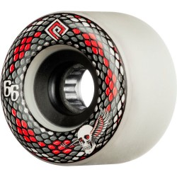 Rodas Powell Snakes Soft Slide Formula (SSF) White - 66mm 75a