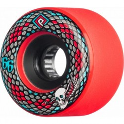 Rodas Powell Snakes Soft Slide Formula (SSF) Red - 66mm 75a