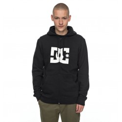 Sweat Hood Zip DC Star - Black