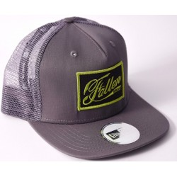 3998515b7b3fe Boné Fallen Authentic Trucker New Era Charcoal Grey