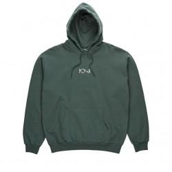 Sweat Hood Polar Stroke Logo - Gray Green