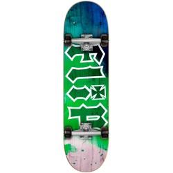 Skate Completo Flip HKD Tie Dye Green - 7.88''