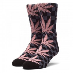 Meias Huf Checkered Plantlife - Preto