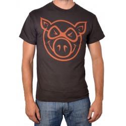 T-Shirt Pig Basic Slim Fit - Brown