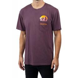 T Shirt NEFF Peak Pocket - Maroon