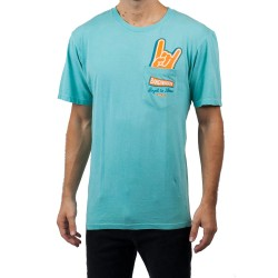 T Shirt NEFF Peak Pocket - Mint