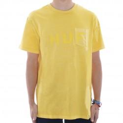 T-Shirt Pocket HUF Original Logo - Amarelo