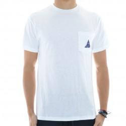 T-Shirt Pocket HUF Triple Triangle - Branco