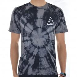 T-Shirt HUF Washed Triple Triangle - Preto