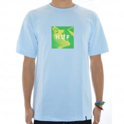 T-Shirt HUF Cherry Box Logo - Light Blue