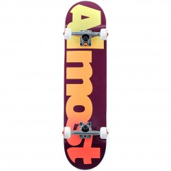 Skate Completo Almost Straight Faded Maroon - 7.875''