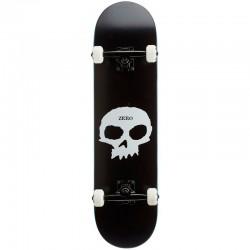 Skate Completo Zero Single Skull Black White - 8.0''