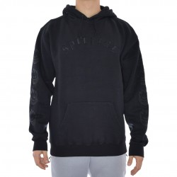 Sweat Hood Spitfire Old E Embroidered - Preto