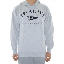 Sweat Hood Primitive Core Logo 2 - Grey Heather