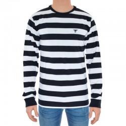 Long Sleeve Fallen Stripes - Preto/Branco