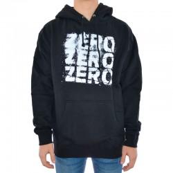 Sweat Hood Zero Three Logo - Preto