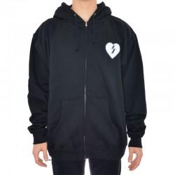 Sweat Hood ZIP Mystery Heart - Preto
