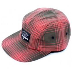Boné Fourstar Acid Plaid Hat Washed Red