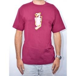 T-Shirt GIRL Scramble Og Burgundy